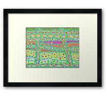 Produce Pattern Framed Print