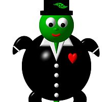 Cute turtle wearing a tuxedo by Rose Santuci-Sofranko