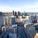 Overlooking Spencer St by Jonathan Newton