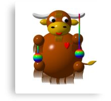 Cute yak with yo-yos Canvas Print