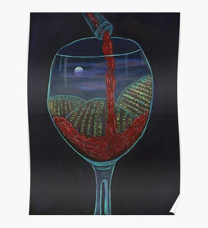 Moonlight In a Wineglass Poster