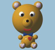 Cute bear with a bow tie Baby Tee