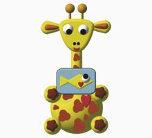 Cute giraffe with goldfish Kids Clothes