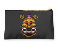 Five Nights at Freddys 4 - Nightmare Fredbear - Pixel art Studio Pouch