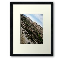 Dry Hollow Curves Framed Print