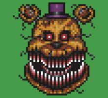 Five Nights at Freddys 4 - Nightmare Fredbear - Pixel art One Piece - Short Sleeve