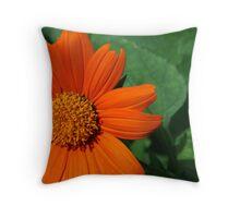 Summer's Orange Flower Throw Pillow