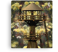 The Brownies Treehouse Canvas Print