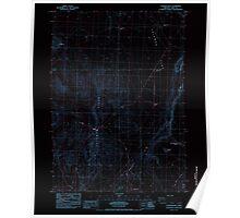 USGS Topo Map Oregon Coleman Hills 279395 1984 24000 Inverted Poster