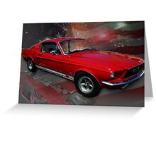 Mom, Apple Pie, and Mustangs (The American Dream) Greeting Card