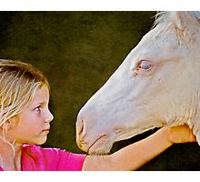 The Little Horse Whisperer Photographic Print
