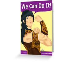 Xena the Riveter Greeting Card
