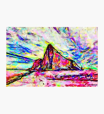 A Psychedelic Rock of Gibraltar Photographic Print