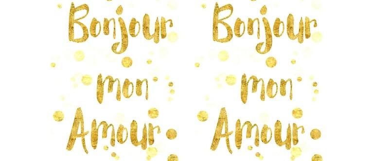 bonjour mon amour mugs by artsandsoul redbubble. Black Bedroom Furniture Sets. Home Design Ideas