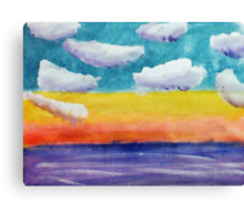 Fantasy Sunset, watercolor Canvas Print