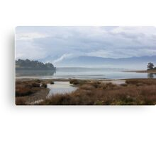 Watercolour scene on the Waimea Inlet Canvas Print
