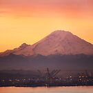 Mt. Rainier at Sunrise by swight