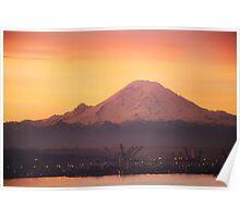 Mt. Rainier at Sunrise Poster