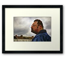 Towards the End of the Storm (Chris) Framed Print