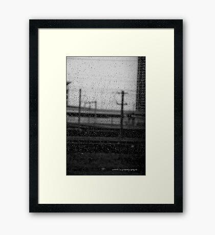 Rainy Day Train © Vicki Ferrari Photography Framed Print