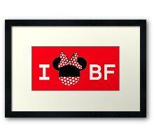 I Minnie BF [For Ladies] Framed Print