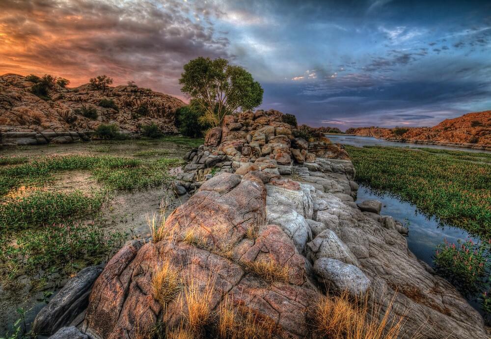 Rock Wall Split by Bob Larson