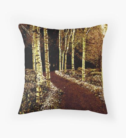 Silver Birch Throw Pillow