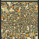 ATLANTA MAP by JazzberryBlue