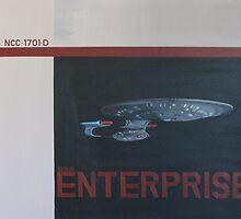 Enterprise D by Claire Watson