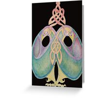 Celtic Love Birds Cool Blue Greeting Card