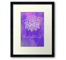 Crown Chakra - Enlightened Framed Print