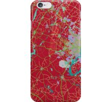 Red Map iPhone Case/Skin