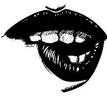 Ink Lip Bite by zombieCraig