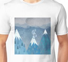mountains bird Unisex T-Shirt