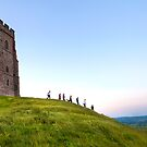 Glastonbury Tor, pilgrimage to Glastonbury Festival by Victoria Ashman