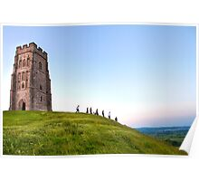 Glastonbury Tor, pilgrimage to Glastonbury Festival Poster