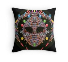 Alien Mask 7x7y7zj Throw Pillow