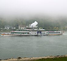 The Goethe Paddle steamer on the Rhine, Germany, 2008 by David A. L. Davies