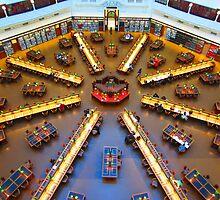 Reading Room Floor at SLV by Mark B Williams