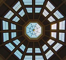 Reading Room Glass Celing at SLV by Mark B Williams