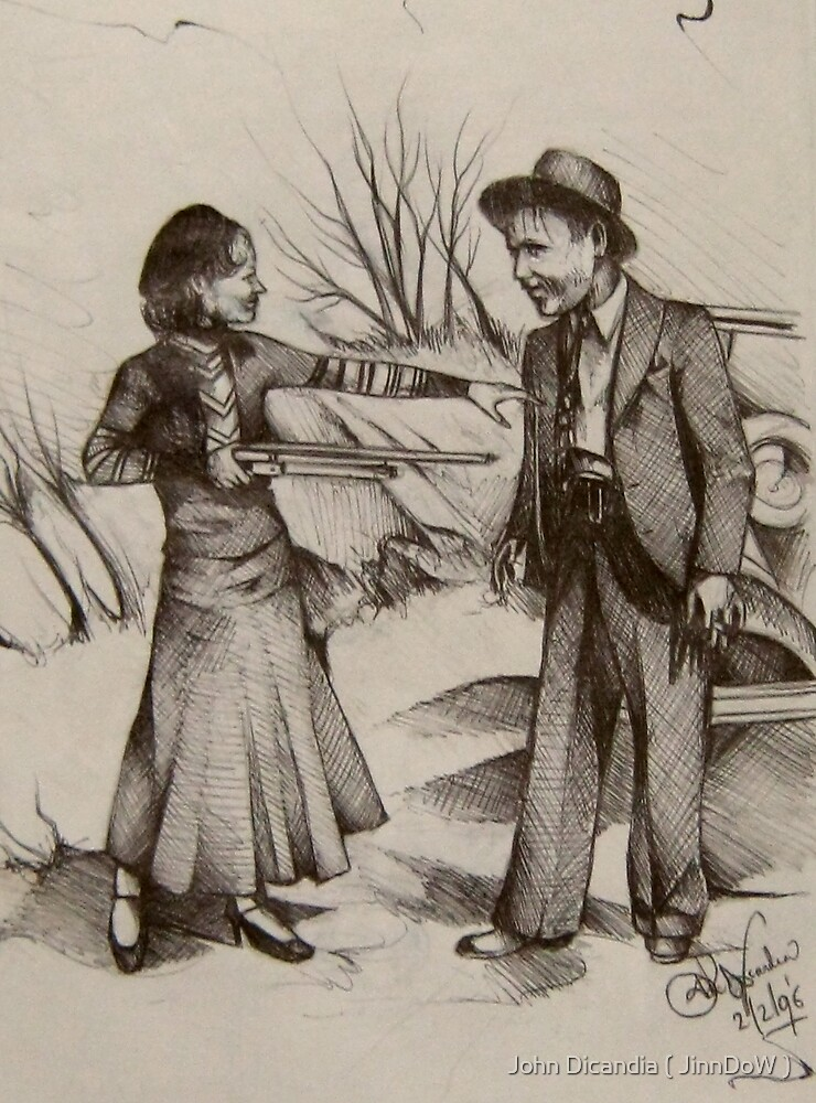 Bonnie Parker and Clyde Barrow  by John Dicandia ( JinnDoW )