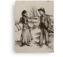 Bonnie Parker and Clyde Barrow  Canvas Print