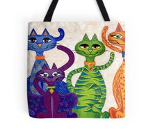 'High Street Cats' - a little bit Posh! (larger version) Tote Bag