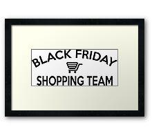 Black Friday Shopping Team Framed Print