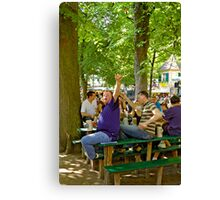 """Having a good time at the """"Kerwa"""", Erlangen. Canvas Print"""
