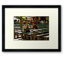 """One for the Ladies at the """"Kerwa"""", Erlangen. Framed Print"""