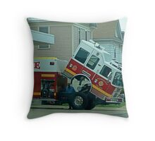 Out of Commission Throw Pillow