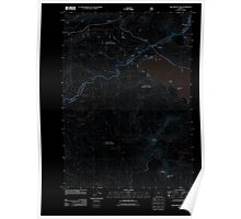 USGS Topo Map Oregon Willamette Pass 20110722 TM Inverted Poster