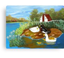 Ducks on the lake Canvas Print