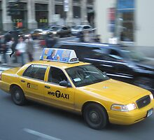 Yellow Taxi Cab by emilymills